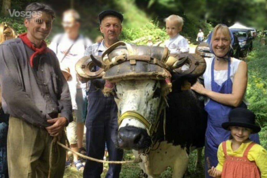 Famille Grivel et Sidonie à la fête du schlittage