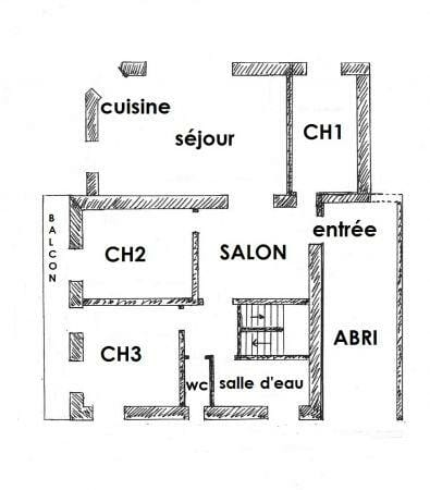 plan du gîte de la Lombarde