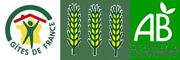 Logos Gîte de France et Agriculture Biologique